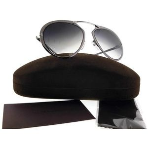 FT0508-12W-55 Unisex Grey Frame Blue Sunglasses